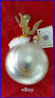 Christopher Radko Italian Blown Glass Ornament FROM A DISTANCE 1994