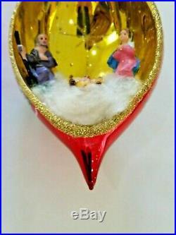 Christopher Radko Italian Blown Glass Ornament HOLY NIGHT 1996