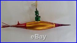 Christopher Radko Italian Blown Glass Ornament MARTIAN HOLIDAY 1995