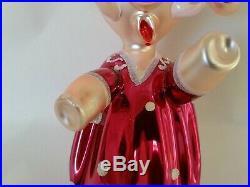 Christopher Radko Italian Blown Glass Ornament MS PEANUT Rare