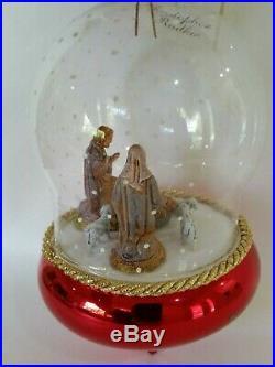 Christopher Radko Italian Blown Glass Ornament NATIVITY SNOWFALL 1995