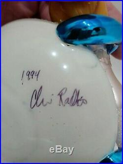 Christopher Radko Italian Blown Glass Ornament ON THE RUN 1994 Signed Dish-Spoon