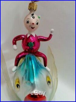 Christopher Radko Italian Blown Glass Ornament OVER THE WAVES 1994