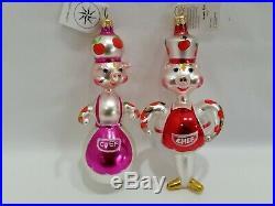 Christopher Radko Italian Blown Glass Ornament PORK RECIPES 1995