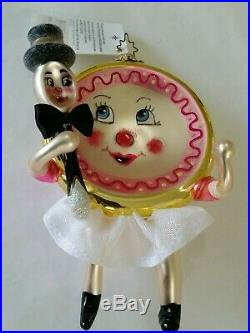 Christopher Radko Italian Blown Glass Ornament RUNAWAY ROMANCE 2003