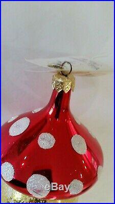 Christopher Radko Italian Blown Glass Ornament SANTA SHROOM 2000