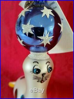 Christopher Radko Italian Blown Glass Ornament SEAL TRICKS 2003