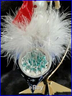 Christopher Radko Italian Blown Glass Ornament SNOW DROP REFLECTIONS 2002