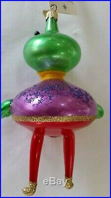 Christopher Radko Italian Blown Glass Ornament SPACE BUDDIES Purple Shirt