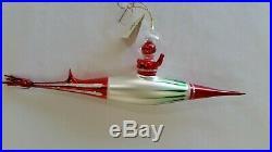 Christopher Radko Italian Blown Glass Ornament SUPER SONIC SANTA 1996
