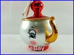 Christopher Radko Italian Blown Glass Ornament TEA AND SYMPATHY 1993
