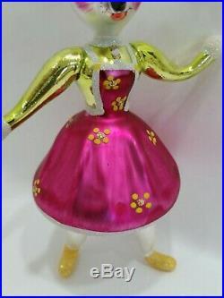 Christopher Radko Italian Blown Glass Ornament TOPO and TOPOLINA 1994 and 1996