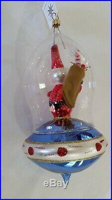 Christopher Radko Italian Blown Glass Ornament TO THE STARS 1996