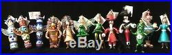 Christopher Radko Italian Flair Peter Pan Complete Set 12 Ornaments 2003 New