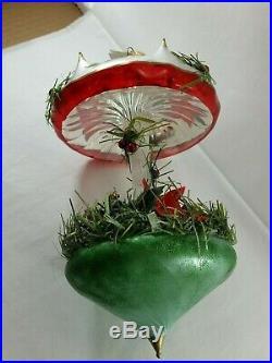 Christopher Radko Italian Glass CAROUSEL Ornament CHRISTMAS CANOPY 2001 RARE