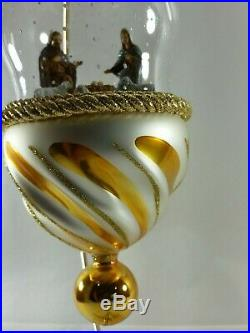 Christopher Radko Italian Glass Ornament BETHLEHEM BLESSED 2005 Nativity Globe