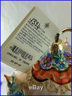 Christopher Radko Italian Glass Ornament CAROUSEL OF DREAMS #1334 of 2500