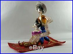 Christopher Radko Italian Glass Ornament MAGIC CARPET RIDE 2005 Aladdin