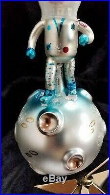 Christopher Radko Italian Glass SIGNED! Ornament ONE SMALL STEP 1994