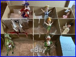 Christopher Radko Italian Ornament Peter Pan EIGHT PIECE Set-NEW with TAGS