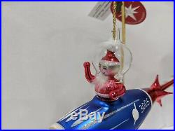 Christopher Radko Italian Ornament SPACED OUT SANTA 20th Anniversary
