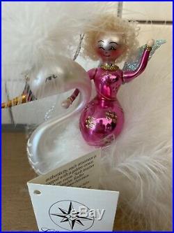 Christopher Radko Italian Ornament SWAN SONG 99-414-0 1999 Feathered