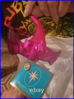 Christopher Radko Italian Pink Dragon Ornament