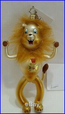 Christopher Radko Italian Wizard of Oz Ornament FRIENDS INDEED 04 Cowardly Lion