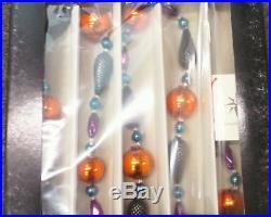 Christopher Radko JET ELEGANCE GARLAND Blown Glass Ornament NEW IN BOX RARE
