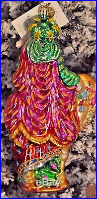 Christopher Radko KING GASPAR Riding a Camel carrying Myrrh Ornament