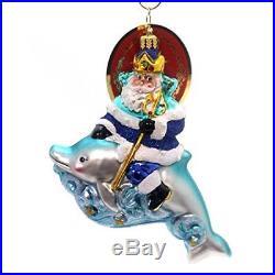 Christopher Radko King of the Sea Surf & Sun Santa Christmas Ornament