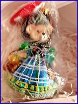 Christopher Radko LITTLE PEDDLER MUFFY Pears, Partridge ornament #10-196-25 NIB