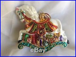 Christopher Radko LITTLE PONY PRIZE Rocking Horse Ornament Limited Edition