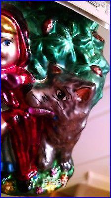 Christopher Radko LITTLE RED RIDING HOODWOLF ornament heirloom #99-130-0 RARE
