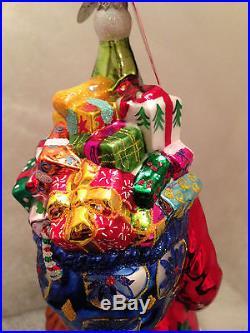 Christopher Radko Large Old World Santa DUTCH TREAT Christmas Ornament Retired