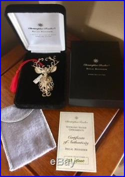 Christopher Radko Limited Regal Reindeer Sterling Silver 925 Ornament Brooch