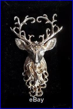 Christopher Radko Limited Regal Reindeer Sterling Silver 925 Ornament Brooch Pin