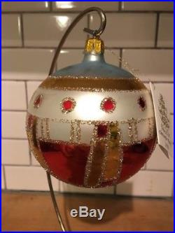 Christopher Radko Lot Of 2 Vienna 1900 88-037-0 Ball Christmas Ornament