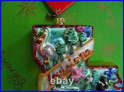 Christopher Radko Louisiana Pelican State Glass Ornament