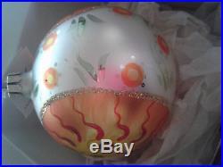 Christopher Radko MEDITERRANEAN SUNSHINE 2-Sided Ball Christmas Ornament 1991