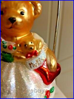 Christopher Radko MUFFY CHRISTMAS ROSE featuring MUFFY WEARING HER FINEST