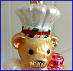 Christopher Radko MUFFY'S GREAT CAKE BAKE Ornament GLORIOUS CAKE TOQUE1020565