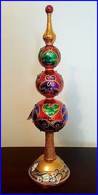 Christopher Radko Majestic JEWEL Colorful Glass 1018521