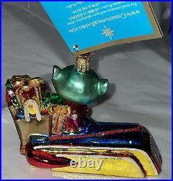 Christopher Radko Merry Martian 2005 Christmas Ornament Alien Car Gifts New Box