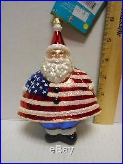 Christopher Radko Merry Maximus SANTA Flag STARS & STRIPES New York Ornament