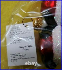 Christopher Radko Mickey Minnie Mouse HOLIDAY SKATERS Christmas Ornament NIB