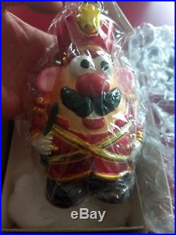 Christopher Radko Mr. Potato Head Christmas Ornament Toy Soldier in Box nwt