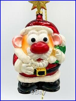 Christopher Radko Mr Potato Head Santa ornament 97-POT-02