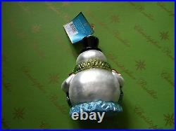 Christopher Radko Mr Ruffles Glass Ornament