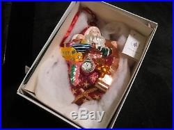 Christopher Radko NICK OF TIME RED SANTA XMAS Ornament SIGNED LIMITED EDITION